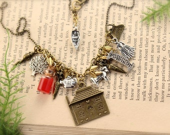 SALE Anne of Green Gables Inspired Charm Necklace