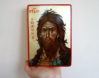 Saint John the Disciple, John the Baptist,  Handpainted Icon Gift, St Ioan