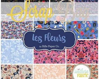 Les Fleurs - Scrap Bag Quilt Fabric Strips by Rifle Paper Co. for Cotton and Steel