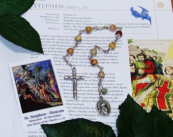 Unbreakable Catholic Chaplet of St. Stephen, Deacon, First Martyr - Patron of Coffin Makers, Deacons, Stone Masons and Against Headaches