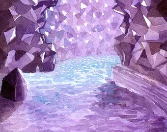 Original Watercolour Painting - Amethyst Lake