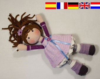 Crochet pattern for doll MIA (Deutsch, English, Français, Español, Nederlands)