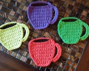 Crochet Coffee Cup Coasters