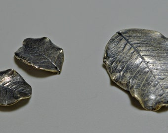 Pewter leaf pendants, see description for quantities and sizes available - #2167
