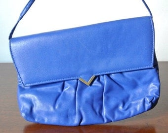 50% off cyber monday sale Vintage Cobalt Blue Shoulder Bag