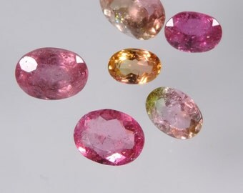 6.35 cts hot pink tourmaline faceted oval cut lot brazil