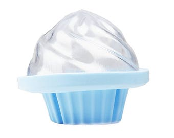 Cupcake Bath Bomb Mold Silicone & Plastic- Make Bath Bomb Cupcake Easy- by Ian's Choice (1 Sets)