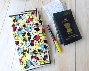 Disney Travel Wallet Passport Holder, passport holder card wallet, passport case document organizer, passport cover for 2, couple wallets