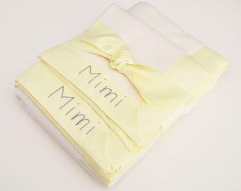 Organic Baby Blanket -- Yellow -- Free Personalization