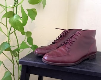 Burgundy ankle boots - size 6.5