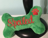 Personalized Squeaky Toy with Paw Print Embroidery-For SPOILED Dogs