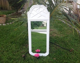 50 Inch TALL CHIPPENDALE MIRROR / Chippendale Style Vintage Mirror / Hollywood Regency Chippendale Palm Beach Style at Retro Daisy Girl