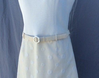 Vintage 1960s mod mini dress Scooter girl with original belt!