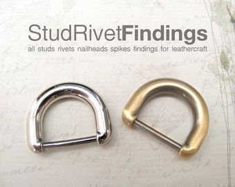 4pcs 16mm (inside) ZINC D-ring FOB Purse Hardware Finding for Purse Ring, Clasps Hook Ring dr01/ High Quality
