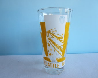 Vintage Seattle World's Fair 1962 Collector Drinking Glass - Monorail