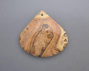Stromatolite Fossil Jasper Bead