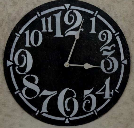 22 Inch Large Wall Clock With Funky Arabic Numbers In Black