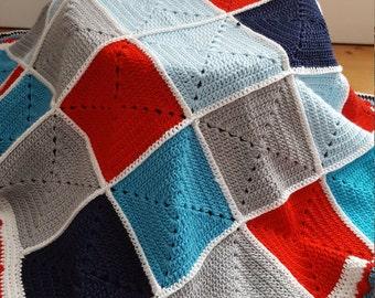 Unisex crochet Baby blanket, handmade, crochet, baby yarn, soft baby blanket,newborn baby blanket