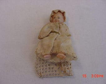 Vintage Miniature Celluloid Doll  17 - 496