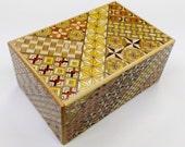 Japanese Puzzle box (Himitsu bako)-5sun(150mm.6.0inch) Standard 7 steps Yosegi
