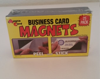 Business Card Magnets, Pack of 25, Peel and Stick