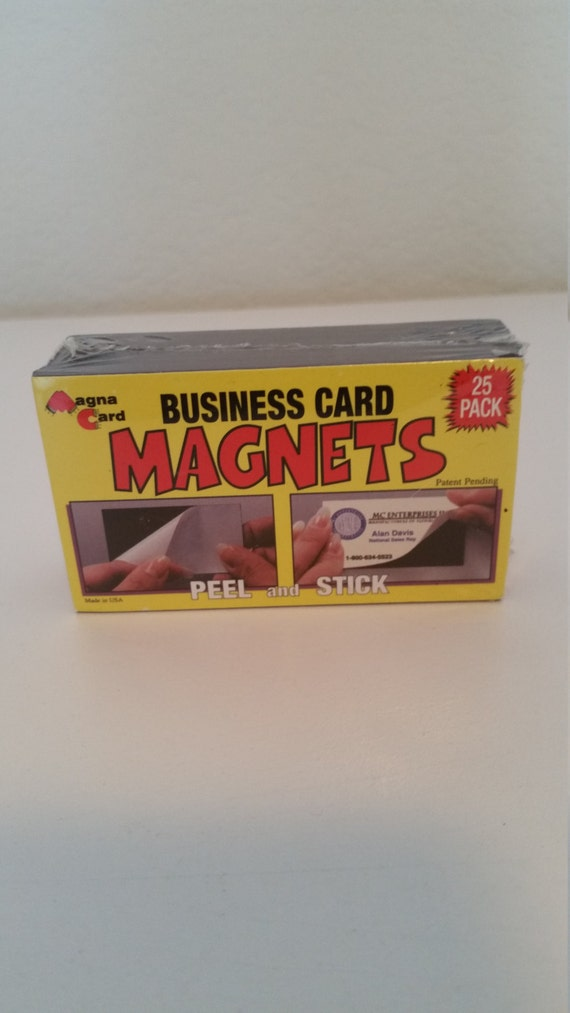 Business card magnets pack of 25 peel and stick for Business card magnets peel and stick