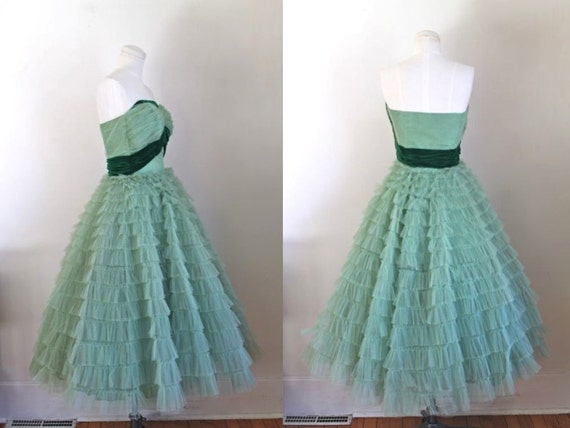 Prom dress vintage glass