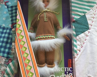 Vintage NRFB 1997 Dolls Of The World Arctic Barbie Made By Mattel #4119