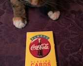 Vintage 1994 SEALED Coca Cola Playing Cards, Vintage 1994, Always Refreshing Yellow Deck with Red Logo, Coke, Cat NOT Included