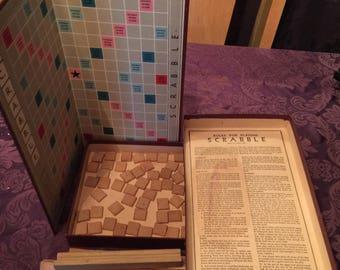 Vintage 1953 Scrabble Game, Complete, Contents Excellent, Box Fair
