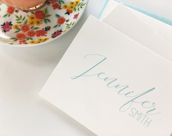 Mother's Day folded note, thank you notes, custom stationery, personalized notecards