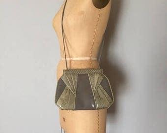 30% OFF SALE... Giani Bernini cloudy grey leather purse | snake skin bag