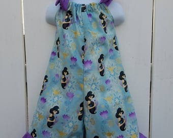 Size 3 Blue and Purple Princess Jasmine Shorts Romper READY to SHIP