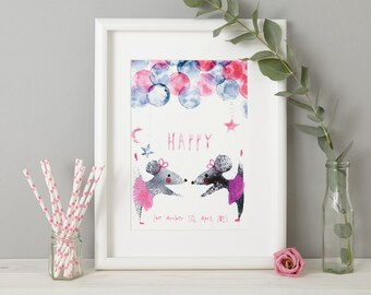 Personalised Mouse Print