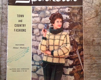 Vintage 1960 Spinnerin Town and Country Fashions Knitting Pattern Book Volume 155
