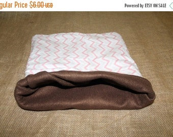 BLOWOUT SALE... OOPS Sale Medium Large Pink Chevron pouch for small pets- Guinea Pigs, Rats, Hedgehogs, Chinchillas, Rodents...