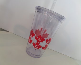 CANADA 16OZ ACRYLIC Tumbler - CANADA!! Show your pride in the Maple Leaf! Canada Tumbler, Canadian Drinkware, Maple Leaf