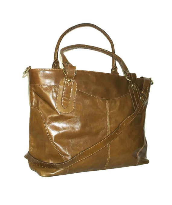 Leather Tote, Leather Handbag, Leather Bag, Leather Shoulder Bag, Leather Crossbody Bag, Leather Tote Bag, Leather Messenger, Nora XL, Tan!