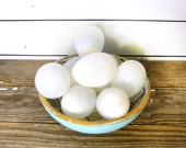 Antique Nesting Egg, Hand Blown Milk Glass Farmhouse Kitchen or Country Cottage Decor, Sold by the Single Egg