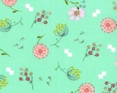 Posy Aneela Hoey Bouquet mint moda fabric FQ or more
