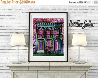 50% Off Today- New Orleans NOLA Art  Art Print Poster by Heather Galler French Quarter (HG709)
