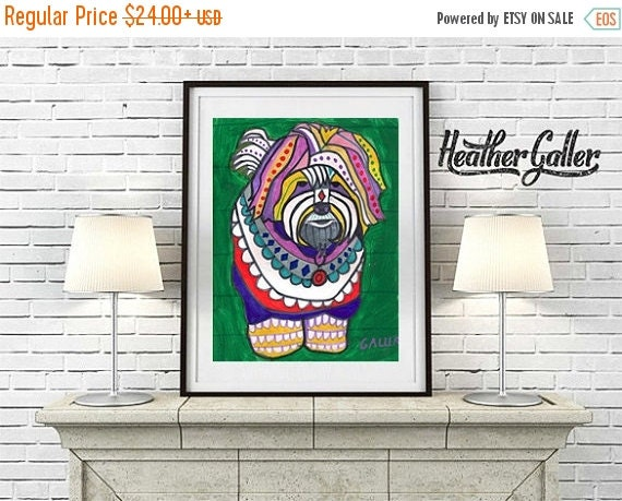 60% Off Today- Heather Galler Purebred Coton De Tulear Dog Portrait Unique Art art dog  Art Print Poster by Heather Galler (HG512)