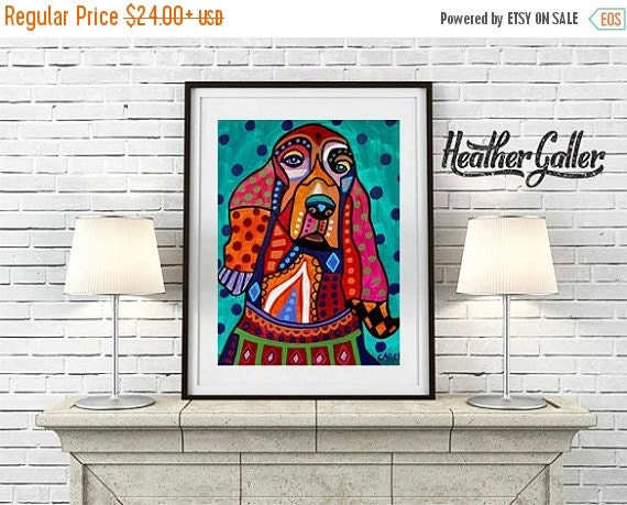 50% Off Today- Irish Setter art dog Poster Print of painting by Heather Galler (HG527)