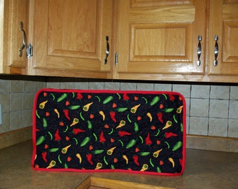 Hot Chili Peppers Toaster Oven, Custom Made Cover, Any Small Kitchen Countertop Appliance Quilted, Personalized, No Shipping Fee, AGFT 1044