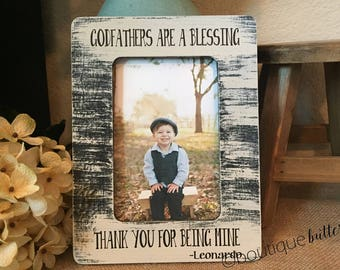 Gift for Godfather Godfather Picture Frame Personalized Frame Baptism Gift for Godfathers Are A Blessing Fathers Day Gift for Godfather