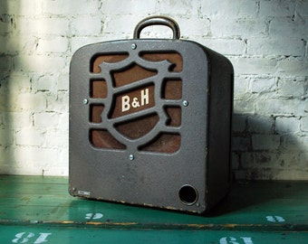 "Bell and Howell Filmosound 185 12"" Extension Speaker, B&H Tombstone Speaker"