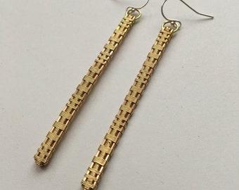 Brass Needles Earrings