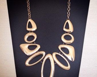 geometric jewelry / vintage choker / statement necklace