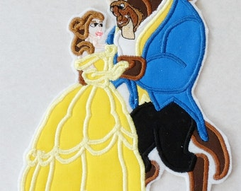 Ready to Ship RTS Boutique Custom Beauty Beast Belle n Beast embroidery Applique Patch DIY 5x7 7.5x6