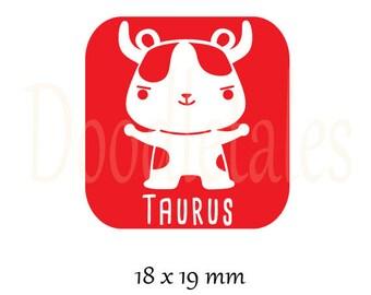 Horoscope Taurus (Rubber Stamp)